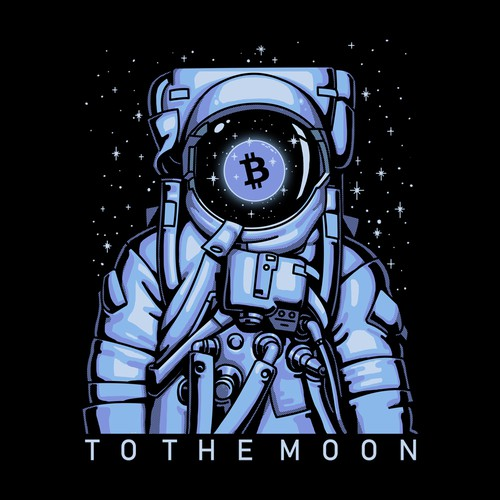 Star t-shirt with the title 'Pure Crypto Shirts to the MOON!'