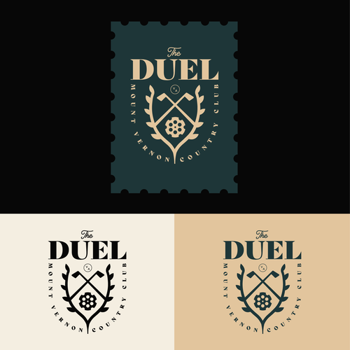 Golf ball design with the title 'The Duel @ Mount Vernon Country Club'