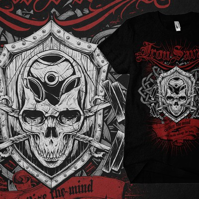 T-Shirt design for IRON SAVAGE