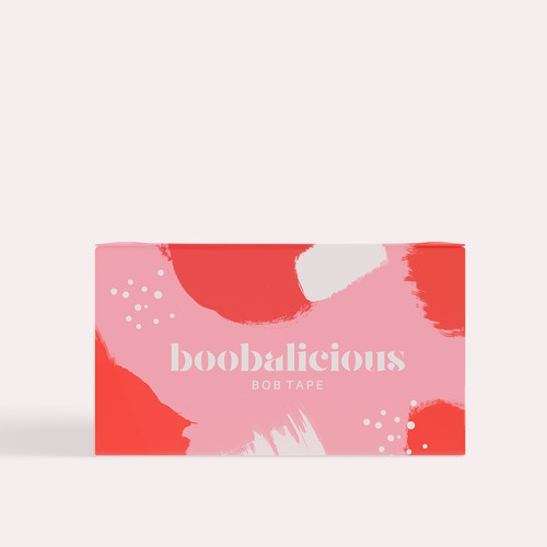 Pink packaging with the title 'Boobalicious Boob Tape  '