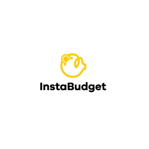 Piggy design with the title 'InstaBudget Logo'