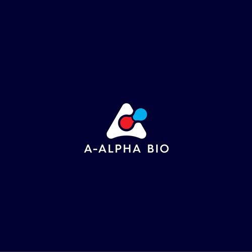 Elixir logo with the title 'A-Alpha Bio logo design'