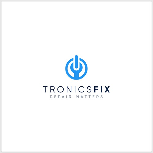 Microphone logo with the title 'Logo Design for TronicsFix, An Electronics Repair Education Business'