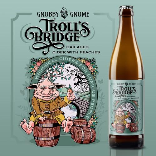 Custom graphic design with the title 'Troll's Bridge'