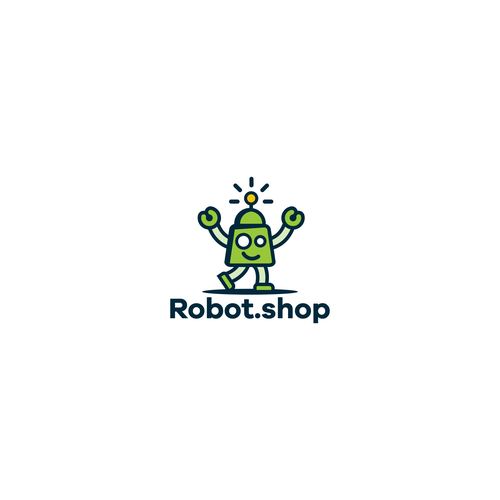 Shop design with the title 'robotshop logo'