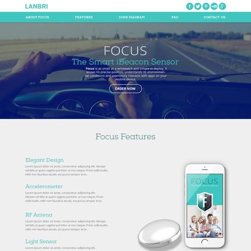 Automotive website with the title 'Focus iBeacon Sensor'
