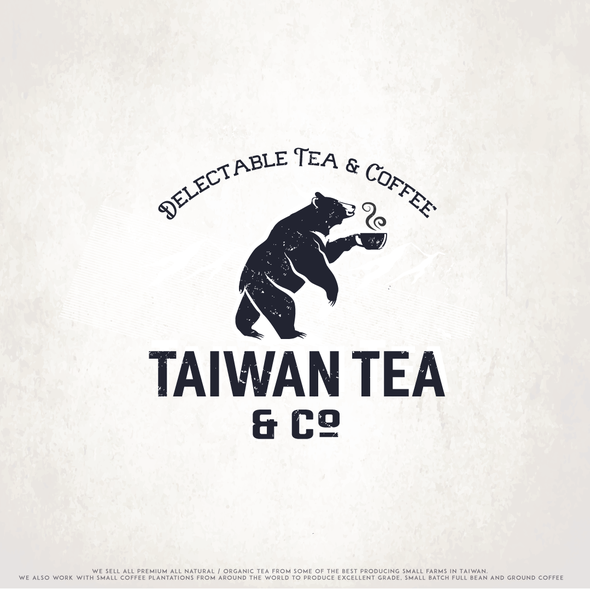 Navy logo with the title 'Taiwan Tea'