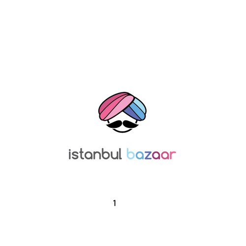 Mustache design with the title 'Funny logo for Turkish candy shop'
