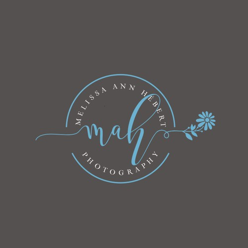 Light blue design with the title 'MAH Photography'