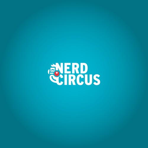 Clown design with the title 'Nerdy blog brand identity'