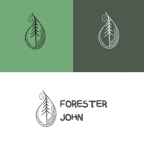Visual logo with the title 'FORESTER JOHN'