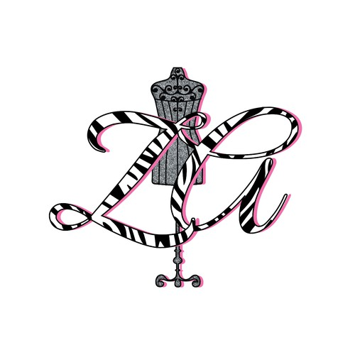 Zebra logo with the title 'Logo for a Fashion design brand ZA'