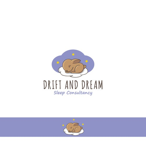 Cloud brand with the title 'Drift and dream - sleep consultancy'