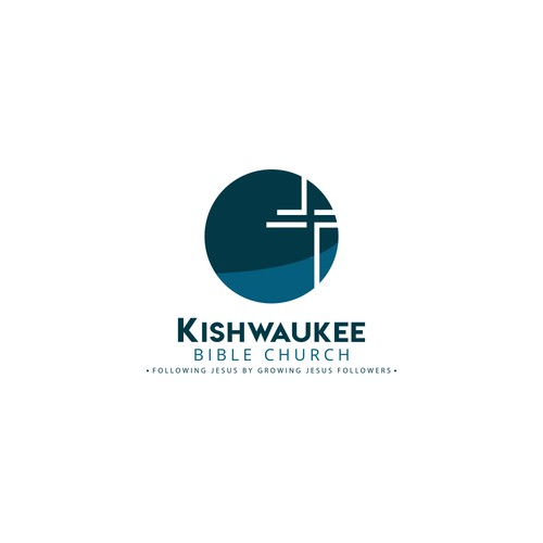 Bible logo with the title 'Kishwaukee Bible Church Logo'