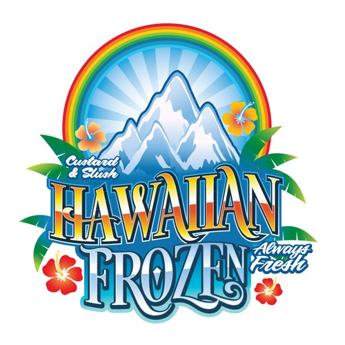 Ice logo with the title 'Hawaiian Frozen'