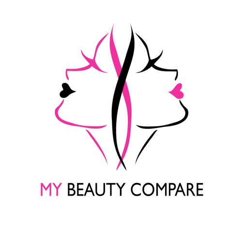 Face logo with the title 'Create the next logo for My Beauty Compare'