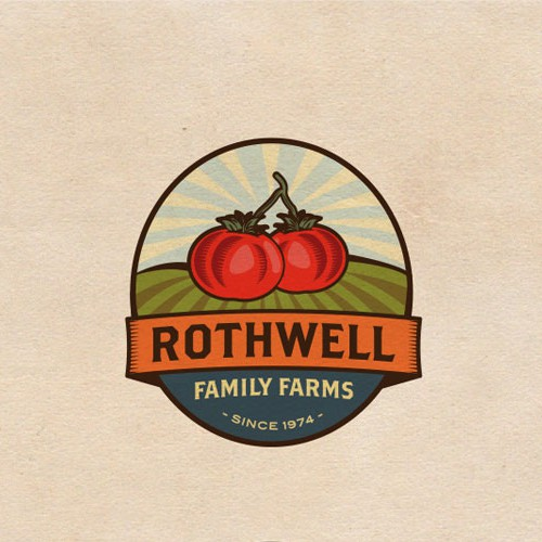 Tomato logo with the title 'Logo Design'