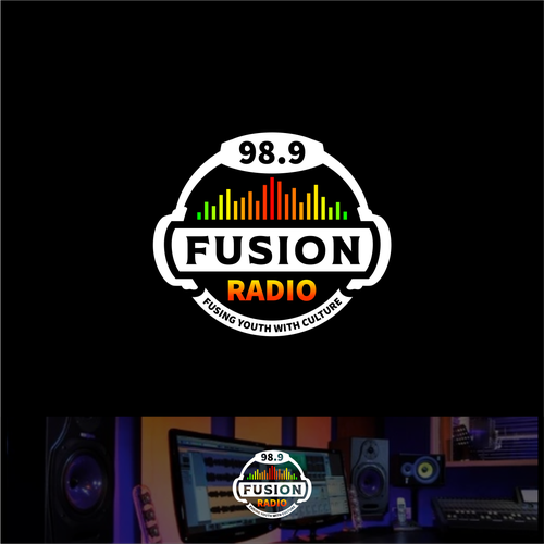Equalizer design with the title 'Logo concept for Fusion Radio'