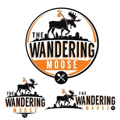Moose design with the title 'The Wandering Moose'