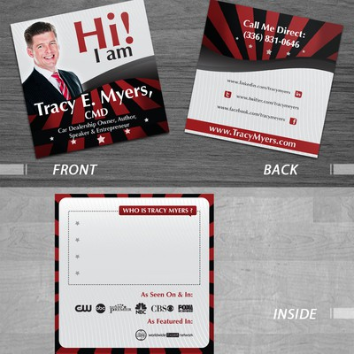 "Looking For ""Out Of The Box"" Business Card Design"