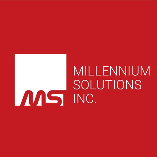 Infrastructure design with the title 'Millennium Solutions Inc, IT Company'