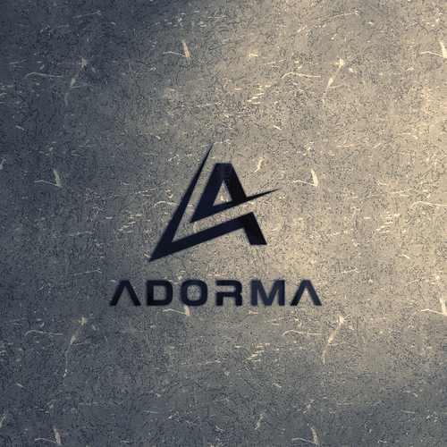 Letter A logo with the title 'Adorma logo for House and EDM Music'