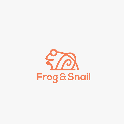 Snail design with the title 'frog & snail'