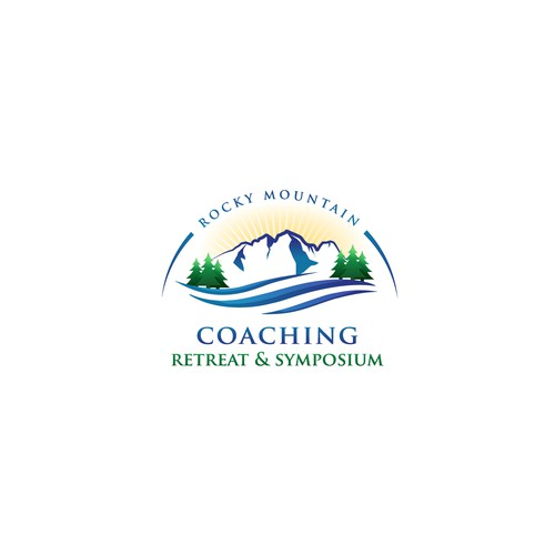 Retreat design with the title 'Logo for coaching retreat and symposium'