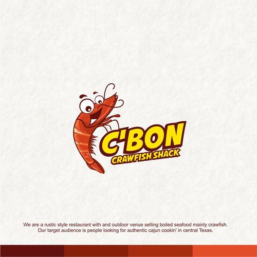 Shrimp logo with the title 'c'bon'