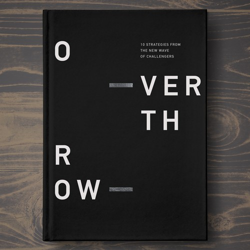 Typography book cover with the title 'book cover for ceo strategies'