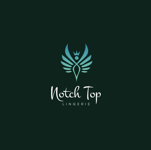 Feminine logo with the title 'NOTCH TOP LINGERIE'