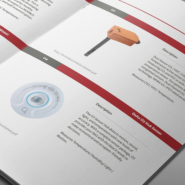 Filter design with the title 'Catalog Design for product line'