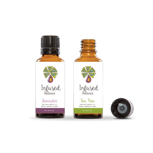 Essential oils logo with the title 'Infused balance'
