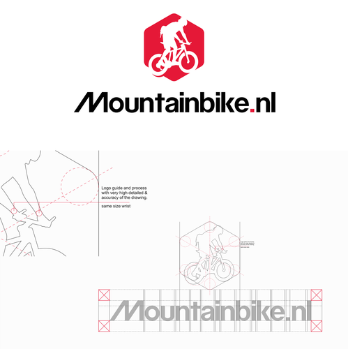 Mountain bike design with the title 'Mountainbike.nl'