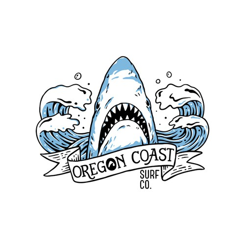 Ocean t-shirt with the title 'Oregon Coast surf co'