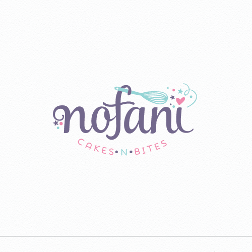 Healthy lifestyle logo with the title 'Nofani bakery'