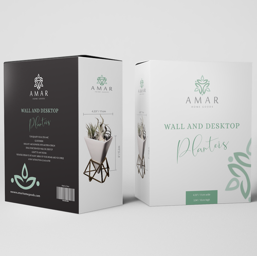 Shop packaging with the title 'Amar packaging box'