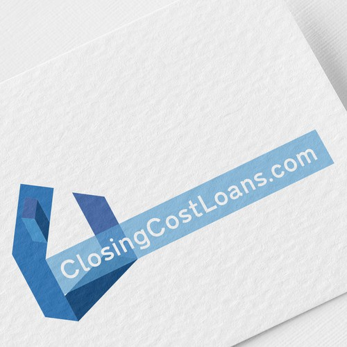 Loan logo with the title 'Logo design for Closingcostloans.com'