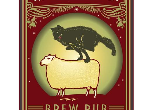 Pub logo with the title 'Right, Proper Brew Pub logo'