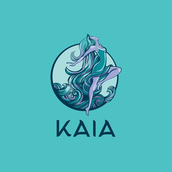 Goddess logo with the title 'The Kaia Method'