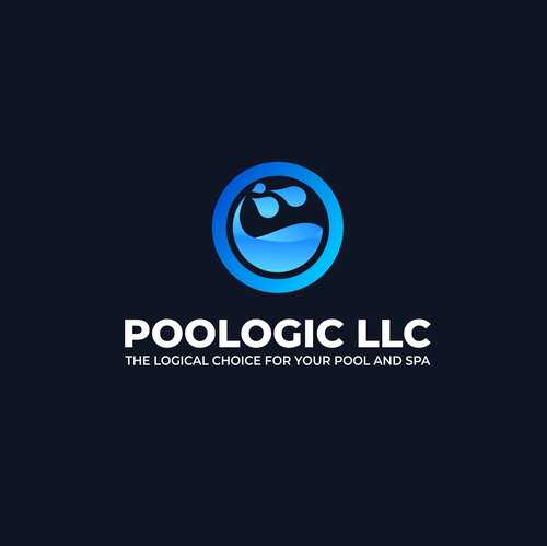 Pool logo with the title 'Pool Logo   Swimming Pool Logo   Swimming Pool   Pool   Pool Design   Poologic LLC'