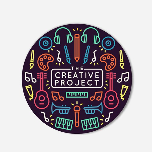 Brush and comb logo with the title 'The Creative Project'
