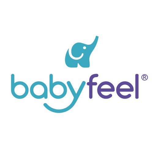 Diaper design with the title 'Logodesign for babyfeel '