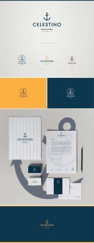 Stationery brand with the title 'Restaurante náutico playero'
