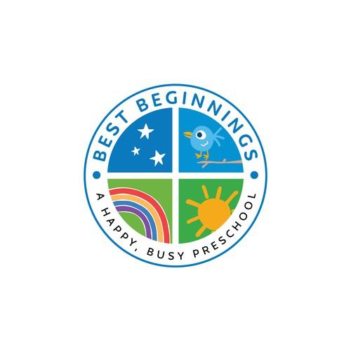 Kindergarten logo with the title 'Best Beginnings'