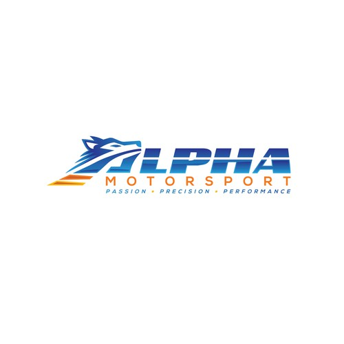 Alpha design with the title 'Alpha Motorsport'