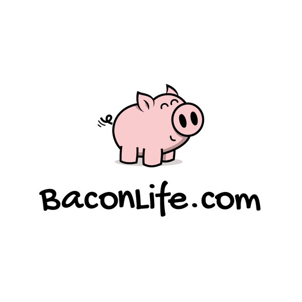 Bacon logo with the title 'Happy piglet logo'