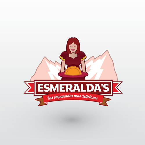 Countryside design with the title 'Logo Esmeralda's'