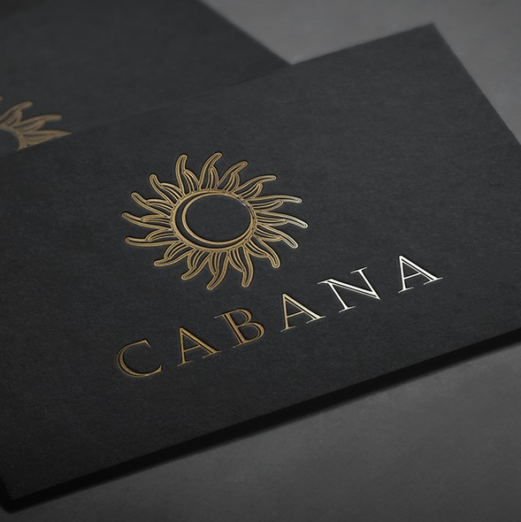 Resort brand with the title 'Cabana luxury complex'