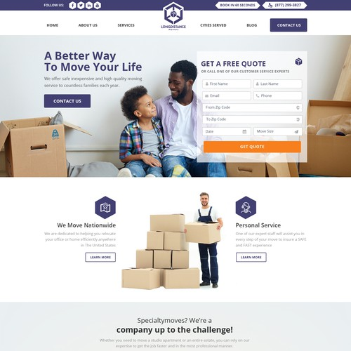 Logistics design with the title 'Logistics Website Design'